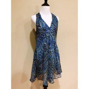 New Joie Silk Paisley Sleeveless V-Neck Mini Dress